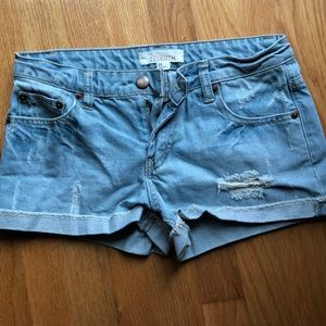 Distressed Forever 21 cuffed shorts
